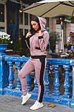 Женский батальный спортивный костюм со полосами на молнии (р. 48-54), фото 9