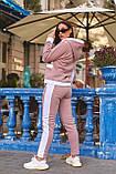Женский батальный спортивный костюм со полосами на молнии (р. 48-54), фото 3