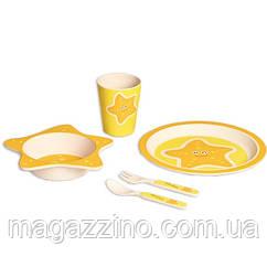 """Набір дитячої бамбуковій посуду, ConBrio, """"Зірочка"""", 5 предметів"""