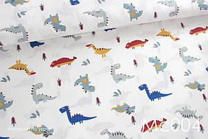 Муслін Динозаврі сіро-сині