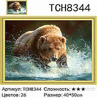"""Набір для творчості """"Алмазна мозаїка"""" 40x50 Пугач, фото 1"""