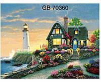 """Алмазна мозаїка 30x40 """"будинок біля моря"""""""
