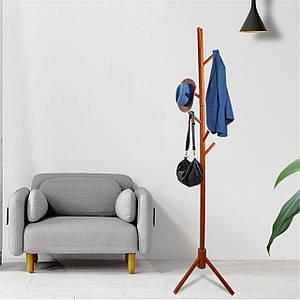 Вешалка-стойка напольная из дерева, цвет коричневый