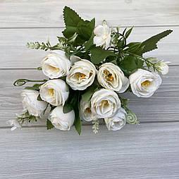 Искусственные цветы букет роза Остин 30 см белые