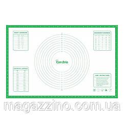 """Силиконовый коврик, """"ConBrio"""", 66,5 x 43,5см., салатовый"""