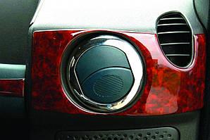 Накладка вентиляционной створки (4 шт, нерж.) Fiat Doblo II 2005↗ гг. / Хром накладки в салон Фиат Добло