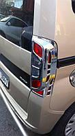 Накладка на стопы с изгибом (2 шт, пласт) Peugeot Bipper 2008↗ гг. / Накладки на фонари Пежо Биппер
