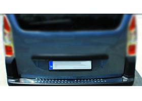 Накладки на задний бампер OmsaLine (нерж.) Peugeot Partner Tepee 2008-2018 гг. / Накладки на задний бампер