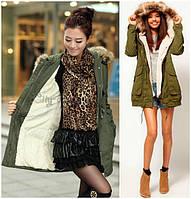 Модная Зимняя Женская Парка на меху! 6 Цветов!, фото 1