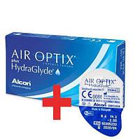 Air Optix plus HydraGlyde. Контактные линзы. 3+1 шт. Бесплатная доставка НП!
