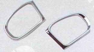 Ободок зеркала (2 шт, пласт) Mercedes S-klass W220 / Накладки на зеркала Мерседес Бенц Бенц С-Класс 2000