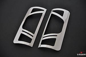 Накладки на стопы вариант №2 (2 шт, нерж) Ford Connect 2010-2014 гг. / Накладки на фонари Форд Транзит Коннект