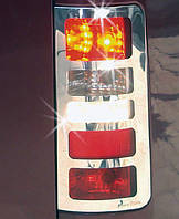 Тюнингов стопов из стали накладки Ford Connect 2001 Carmos / Накладки на фонари Форд Транзит Коннект
