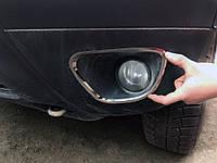 Накладки на противотуманки (2 шт, нерж) / Защитные (хром) накладки на бампер Рено Дастер TM-car34235