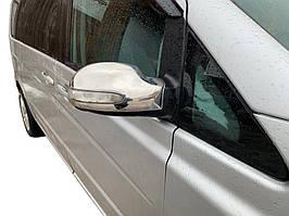 Накладки на зеркала Viano 2004-2010 (2 шт, нерж) Mercedes Vito W639 2004-2015 гг. / Накладки на зеркала