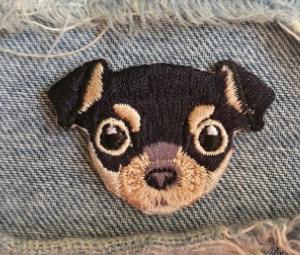 На одежду нашивка апликация отличное качество собака чихуа-хуа термонаклейка
