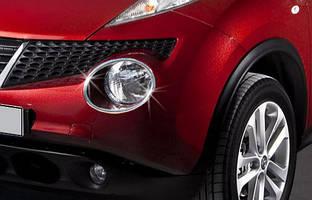 Nissan Juke 2010-2014 накладки на передние фонари OmsaLine / Накладки на фонари Ниссан Жук
