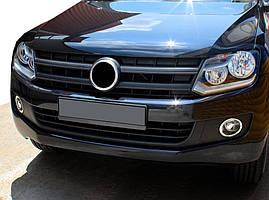 Накладки на фары противотуманные (2 шт, нерж) Volkswagen Amarok / Накладки на противотуманки Фольксваген