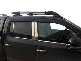 Рейлинги Shark Хром (с поперечинами) Volkswagen Amarok / Рейлинги Фольксваген Амарок