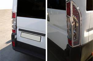 Накладки на стопы с изгибом (2 шт, пластик) Citroen Jumper 2007↗ и 2014↗ гг. / Накладки на фонари Ситроен