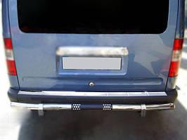 Накладка на задний бампер OmsaLine (нерж.) Ford Connect 2006-2009 гг. / Накладки на задний бампер Форд Транзит