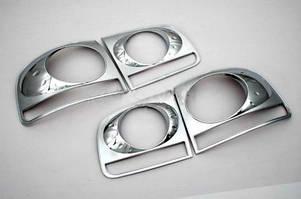 Накладки задние фонари 2008-2011 (2 шт, пласт) Volkswagen Touareg 2002-2010 гг. / Накладки на фонари