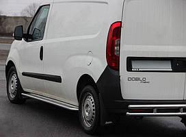 Opel Combo 2012↗ Боковые подножки Премиум d60 на короткую базу / Боковые пороги Опель Комбо