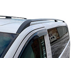 Mercedes Viano Черные рейлинги ELITE с пласт-м креплением Compact / Рейлинги Мерседес Бенц Виано
