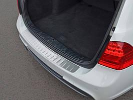 Накладка на задний бампер (SW, нерж.) BMW 3 серия E-90/91/92/93 2005-2011 гг. / Накладки на задний бампер БМВ