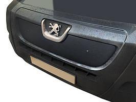 Peugeot Boxer 2006-2014 Зимняя решетка матовая / Зимние накладки Пежо Боксер