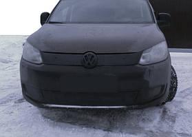 Caddy 2010 Зимняя решетка верхняя черная глянцевая / Зимние накладки Фольксваген Кадди