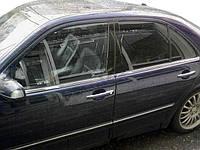 Нижняя окантовка стекол (4 шт, нерж) Carmos - Турецкая таль / Накладки на двери Мерседес Бенц E-klass W210