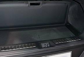Renault Kadjar Накладка на задний порог глянцевая / Хром накладки в салон Рено Каджар
