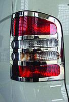 Volkswagen Transporter T5 Хром на задние стопы OmsaLine 1 дверь / Накладки на фонари Фольксваген Транспортер