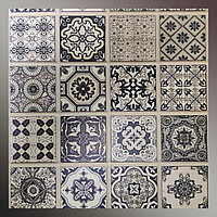 Декоративна панель пластикова ПВХ кахельна мозаїка Тартус 960 х 485мм стінова етнічний стиль