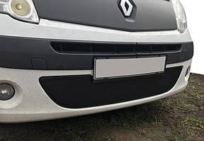 Renault Kangoo 2008-2013 Зимняя нижняя решетка радиатора матовая / Зимние накладки Рено Кенго