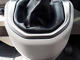 Volkswagen T6 Глянцевая окантовка ручки КПП (нерж) / Хром накладки в салон Фольксваген T6