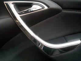 Накладки на передние двери (нерж) Opel Astra J 2010↗ гг. / Хром накладки в салон Опель Астра