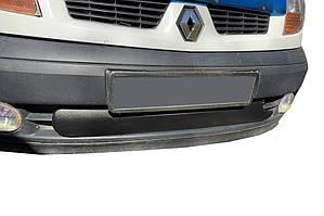 Renault Kangoo 2003-2008 Нижняя зимняя решетка радиатора матовая / Зимние накладки Рено Кенго