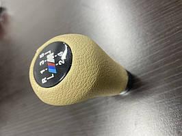 Ручка КПП ОЕМ (кожзам, бежевая гладкая) BMW 3 серия E-30 1982-1994 гг. / Ручки КПП БМВ 3 серия E-30