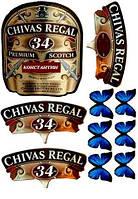 """Вафельные картинки """"Chivas Regal"""" А4 (код 01909)"""