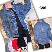 """Куртка джинсова жіноча з капюшоном оверсайс розміри S-XL """"JeansStyle"""" недорого від прямого постачальника"""