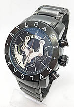 Чоловічі наручні годинники BVLGARI, чорні ( код: IBW613B )