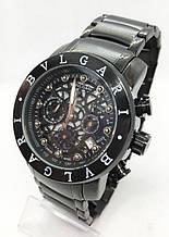 Чоловічі наручні годинники BVLGARI, чорні ( код: IBW614B )