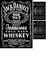 """Вафельные картинки """"Jack Daniels"""" А4 (код 01909)"""