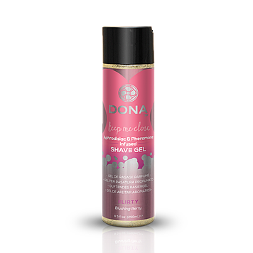Гель для бритья DONA Intimate Shave Gel: Flirty Blushing Berry (250 мл) с феромонами и афродизиаками