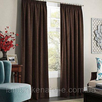 Готовые шторы в зал, в спальню, портьерная однотонная ткань, тюль - дополнительно