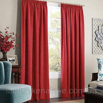 Готовые шторы в зал,  в спальню, портьеры цвет бордовый