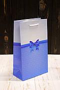 Бумажный подарочный пакет 26*15,5*8см 12шт/уп №ПАК СР-1022КРТ