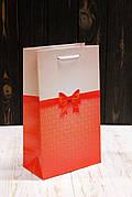 Бумажный подарочный пакет 26*15,5*8см 12шт/уп №ПАК СР-1019КРТ
